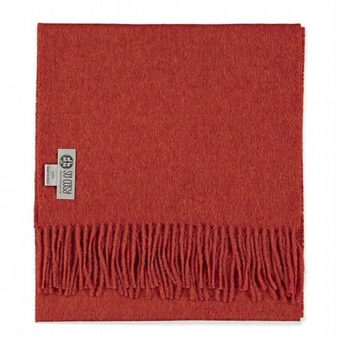 Baby Alpaca Wool - Scarf - Deep Orange